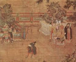 A depiction of the Chinese imperial court