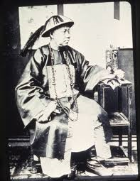 Chinese mandarin (bureaucrat) from the Qing era