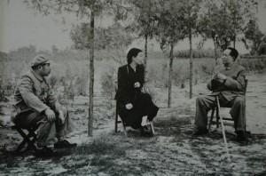 Mao and his wife Jiang Qing in the Yan'an countryside