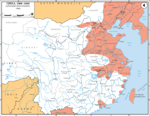 Extent of Japanese occupation by 1940