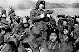Lei Feng reading to the troops