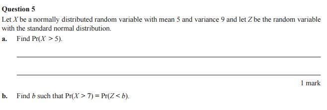 Norm dist Question 2