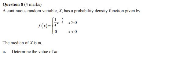 prob continuous mode of centre Question