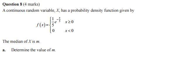 prob continuous mode of centre Question